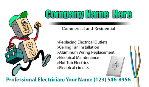 Electrician Business Cards 06