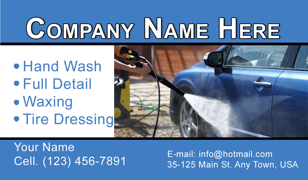 Car Wash Business Cards 06