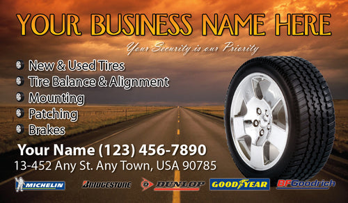 Tires and wheels Business Cards 06