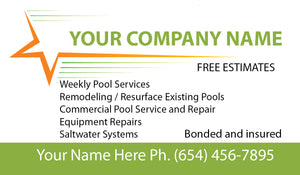Pool Service Business Card 06