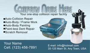Auto Body Collision Business Cards 07