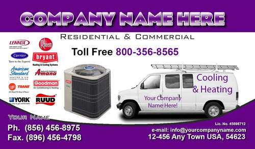 Air Conditioning Business Cards 07