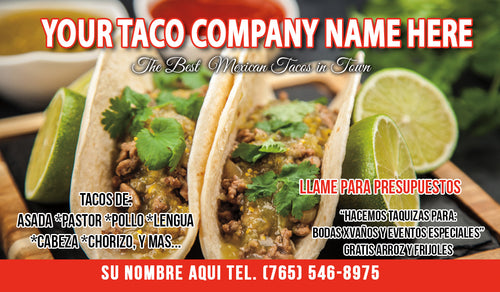 Tacos Business Card 07