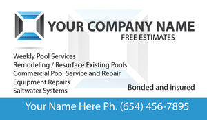 Pool Service Business Card 07