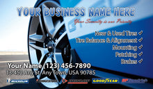 Load image into Gallery viewer, Tires and wheels Business Cards 07