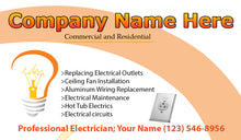 Load image into Gallery viewer, Electrician Business Cards 07
