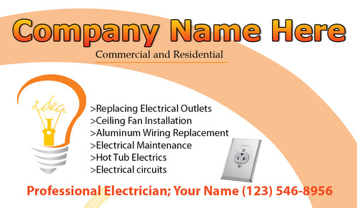 Electrician Business Cards 07