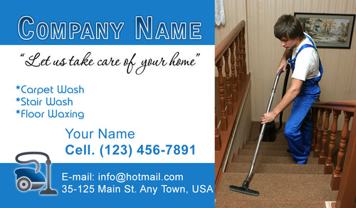 Carpet Cleaning Business Cards 07