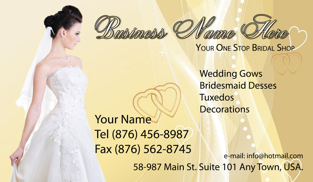 Bridal Shop Business Cards 07
