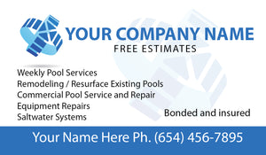 Pool Service Business Card 08