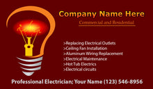 Load image into Gallery viewer, Electrician Business Cards 08