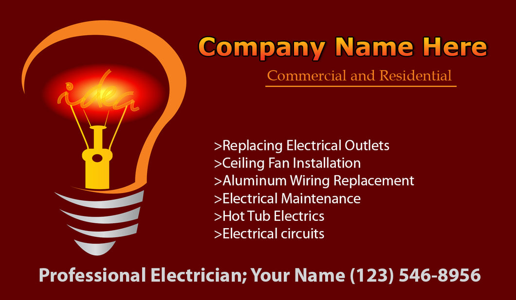 Electrician Business Cards 08