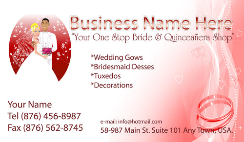 Bridal Shop Business Cards 08