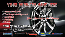 Load image into Gallery viewer, Tires and wheels Business Cards 08
