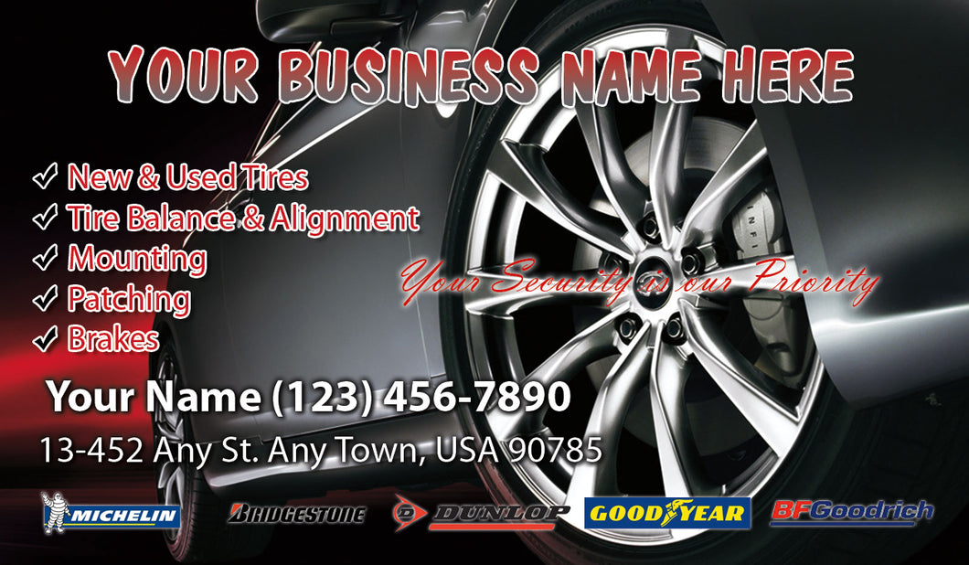 Tires and wheels Business Cards 08