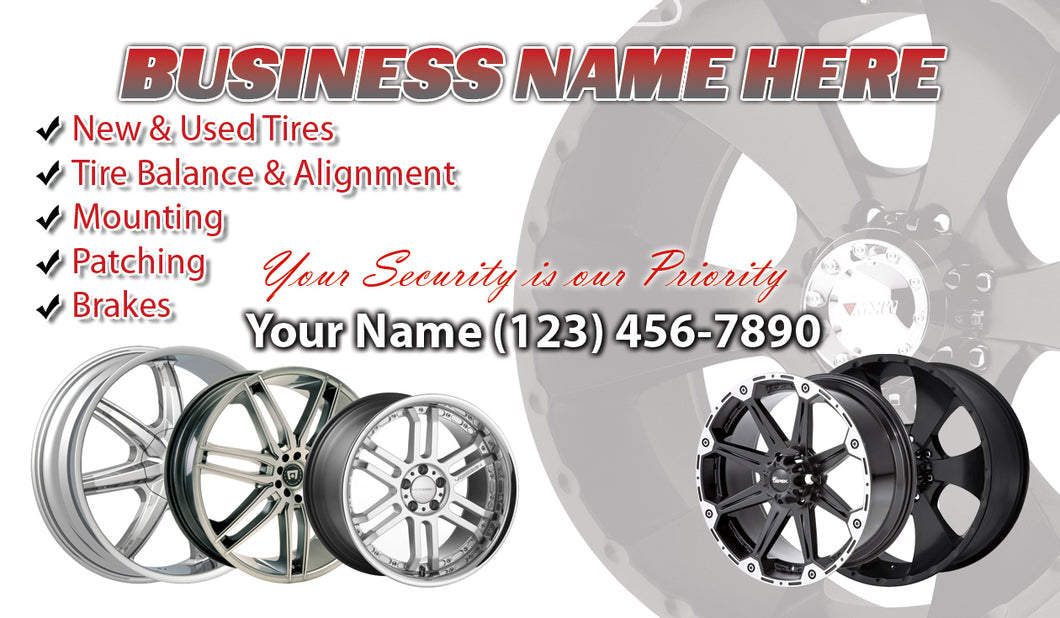 Tires and wheels Business Cards 09