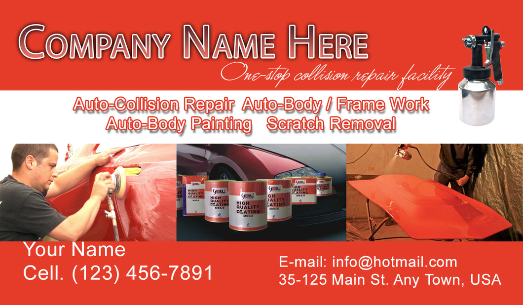 Auto Body Collision Business Cards 09
