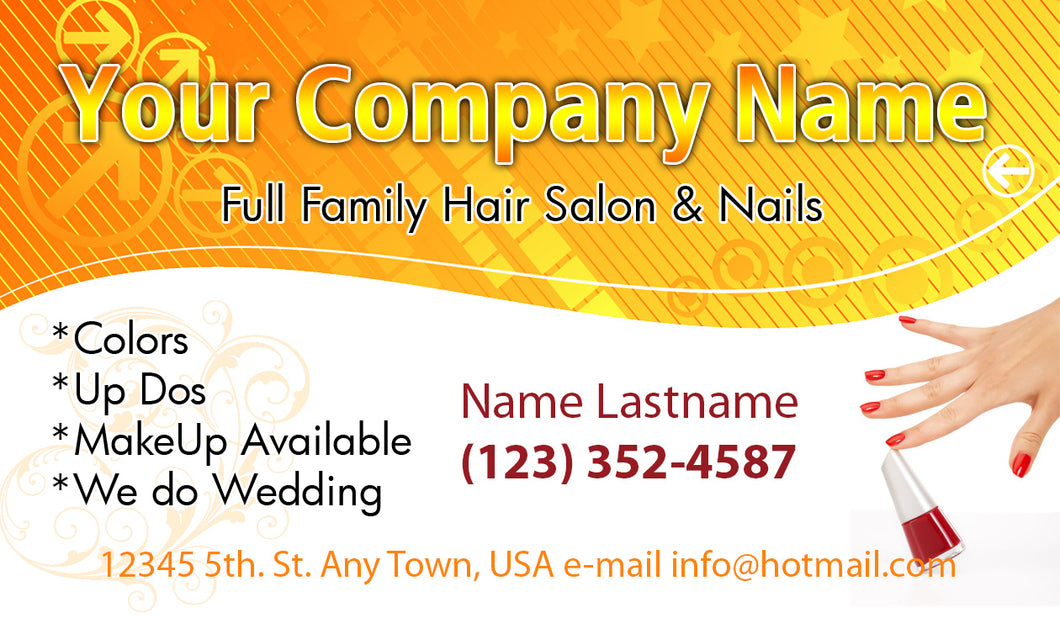 Beauty Shop Business Cards 10