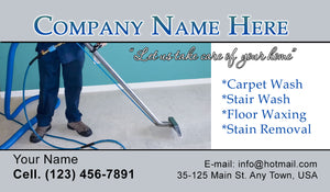 Carpet Cleaning Business Cards 10