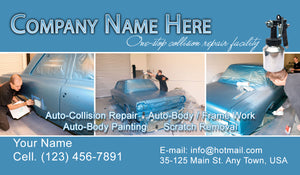 Auto Body Collision Business Cards 10