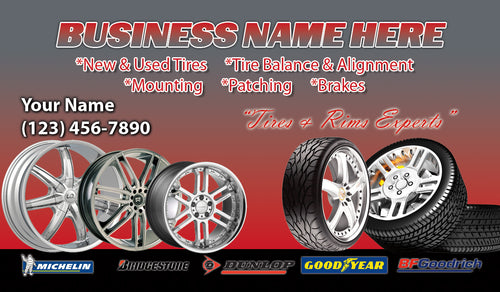 Tires and wheels Business Cards 10