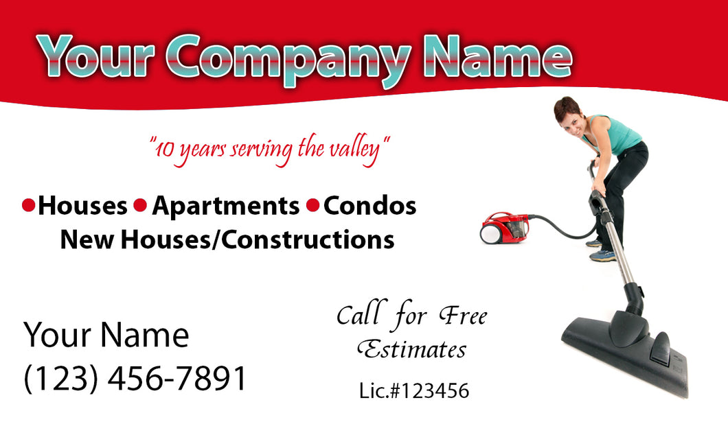 House Cleaning Business Cards 11