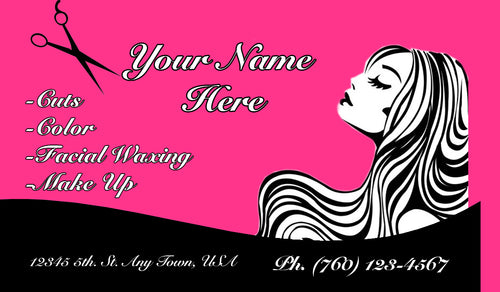 Beauty Shop Business Cards 12