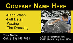 Car Wash Business Cards 12
