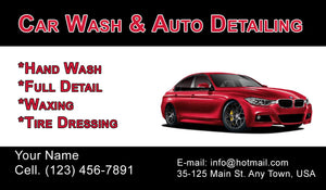 Car Wash Business Cards 13