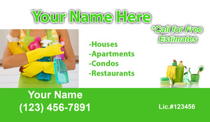 House Cleaning Business Cards 17