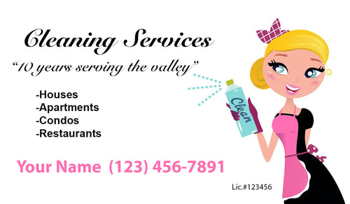 House Cleaning Business Cards 19