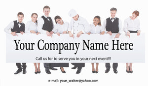 Banquet Server Business Cards 06