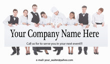 Load image into Gallery viewer, Banquet Server Business Cards 03