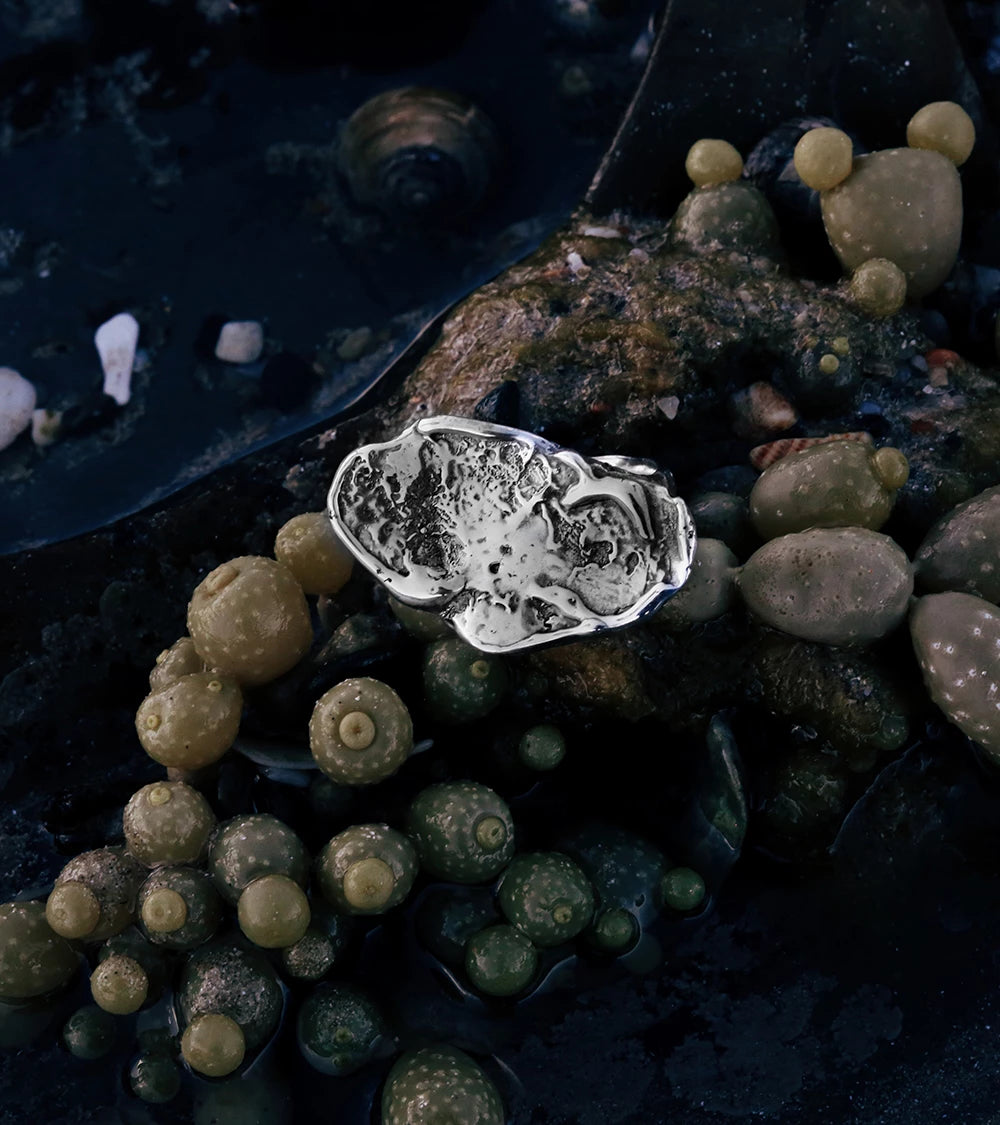 Alicia Hannah Naomi - Sterling Silver Currents Signet Ring - Undertow Collection - Image by Reece Hobbins