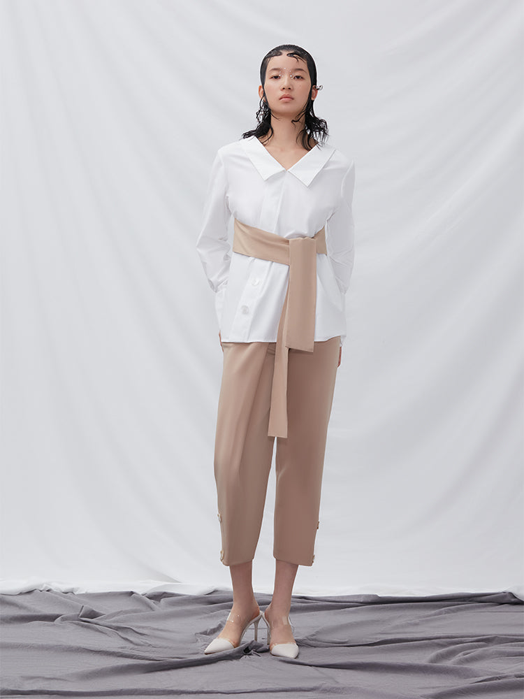 Trouser with Fold Detail