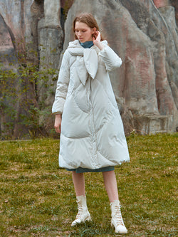 LONG COLLAR DOWN PUFFER JACKET