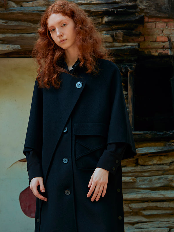 CAPE WOOL COAT