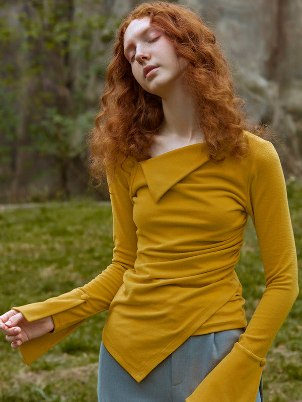 RUCHED TOP (GINGER YELLOW)
