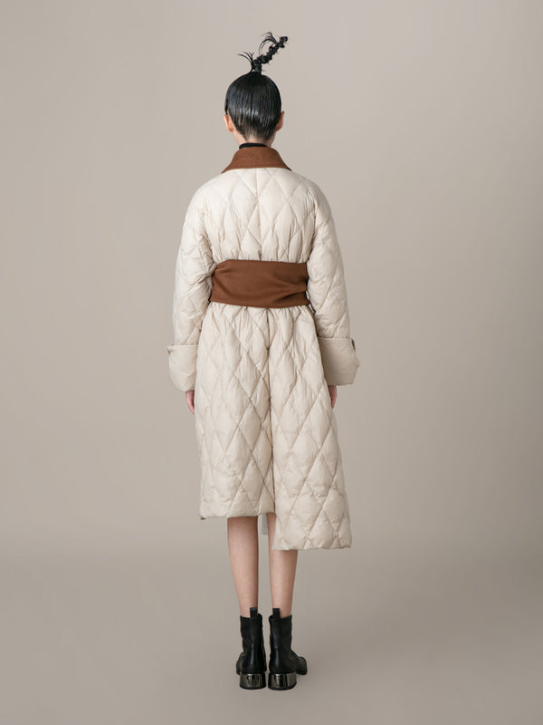 Puffer Coat With Wool Corset