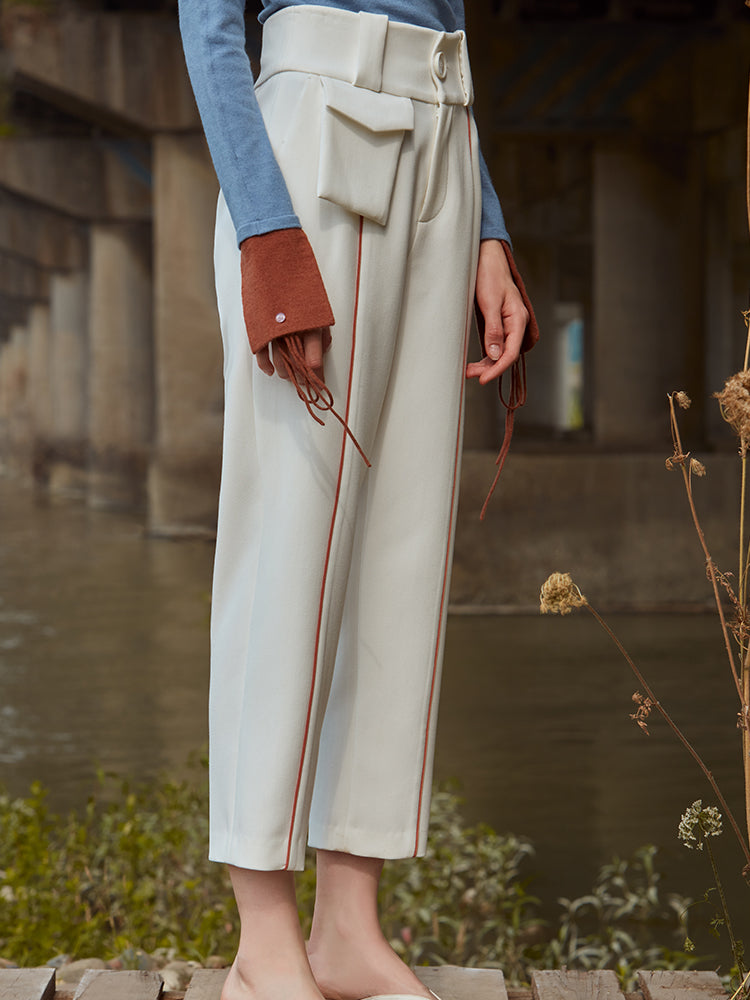 HIGH WAIST TAPERED TROUSER