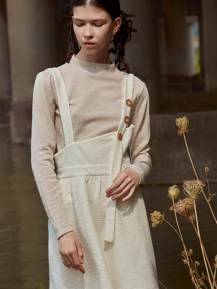 PLEATED WAISTED WOOL KNIT