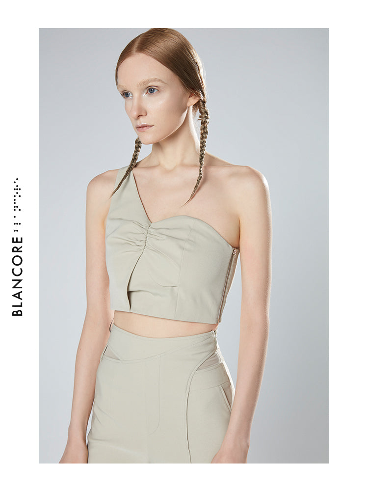 FAKE TWO-PIECE VEST TOP