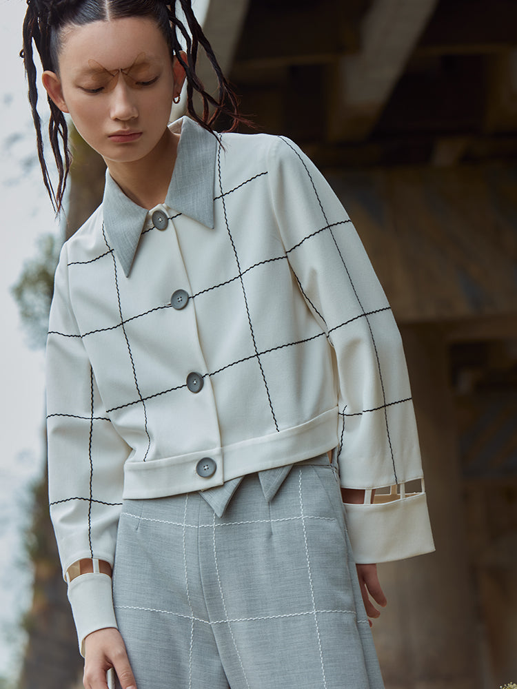 LATTICE PATTERN JACKET