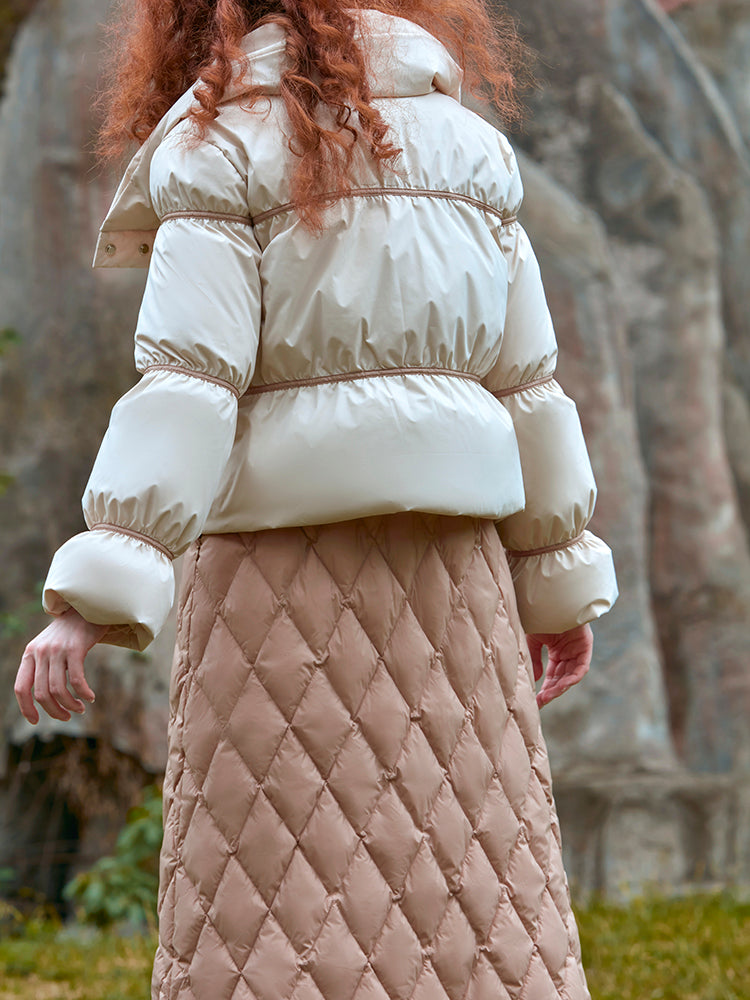 TWO PIECE DOWN PUFFER JACKET