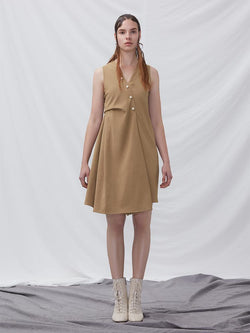 A-line Dress with Fold Detail - BLANCORE