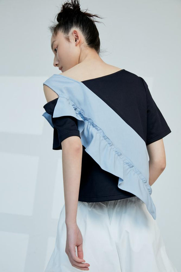Asymmetric Knit Top - BLANCORE