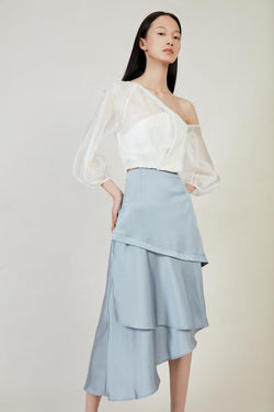 Asymmetric Skirt - BLANCORE