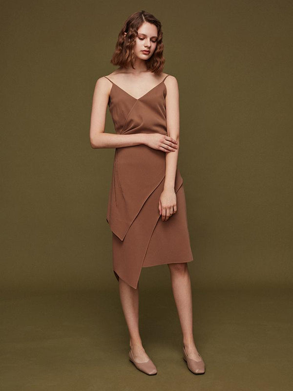 Asymmetric Slip Dress - BLANCORE