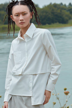 SHIRT WITH DETACHABLE HEM