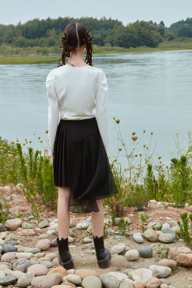 SKIRT WITH DETACHABLE BOTTOM